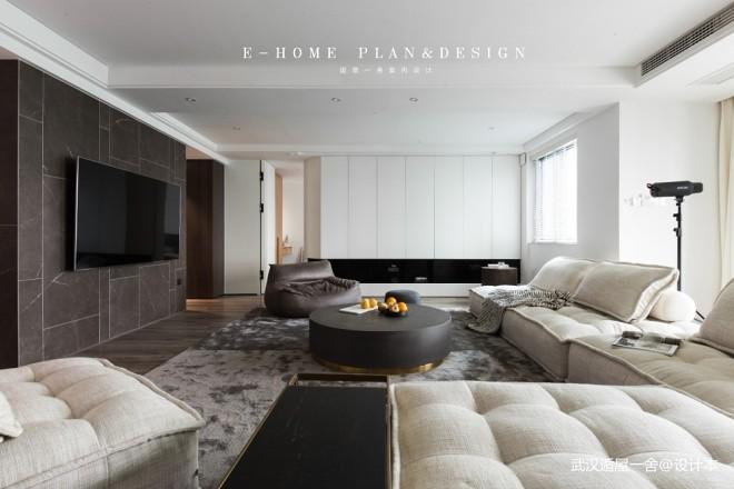 380m²顶层复式全屋定制设计 现代简约风格装修效果图