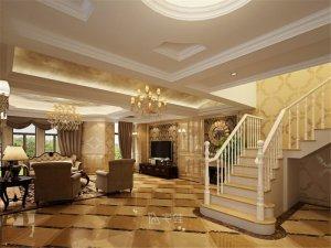 维纳阳光别墅项目装修 欧式古典风格设计效果图