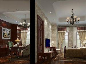 汤臣高尔夫别墅项目装修 美式风格设计案例展示