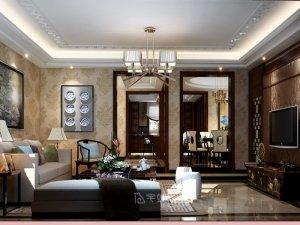 350平别墅项目装修设计 新中式风格装修效果图