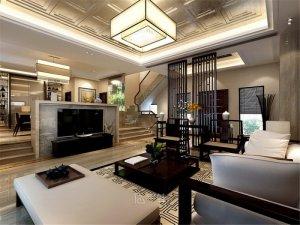 上海嘉定绿地海域观园别墅项目装修 新中式风格设计