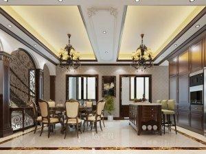 新虹桥首府别墅项目装修图片 欧美风格设计效果图