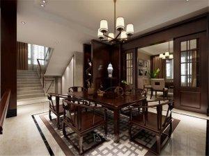 中邦上海城别墅装修图片 中式风格设计案例展示