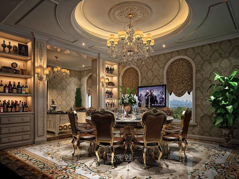 凯迪赫菲庄园别墅项目装修 欧式古典风格效果图