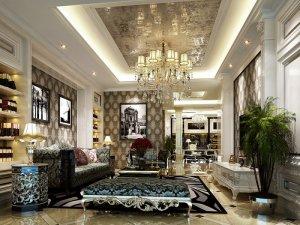 龙湖郦城国际别墅项目装修 新古典风格装修效果图