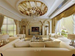 招商海德花园别墅项目装修图片 欧式古典风格设计