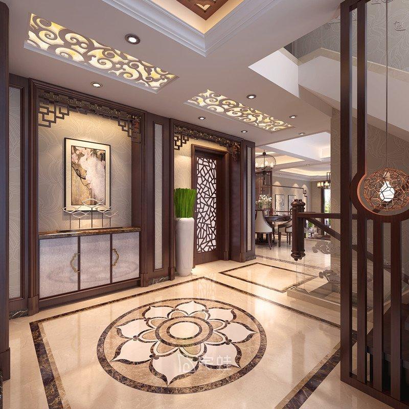 別墅全屋定制設計裝修圖片 新中式風格設計案例展示