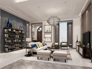 白金瀚宫别墅项目装修图片 现代风格设计案例展示