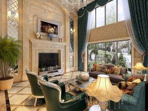 保利叶语别墅项目装修图片 欧美风格设计效果图