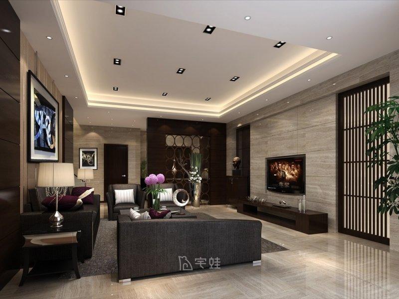 碧桂园500平别墅项目装修 新中式风格设计效果图