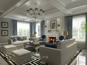 大豪山林别墅项目装修图片 美式风格装修设计案例展示