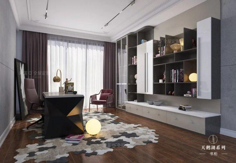 索菲亚全屋定制 现代风格书房效果图