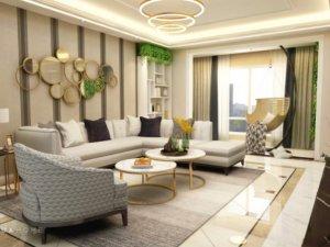 现代美式风格家装案例 简约又漂亮的婚房