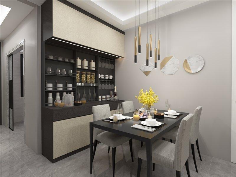 福湘定制现代风格家装设计 让家居随时衬托我们美菱洗衣机价格的爱
