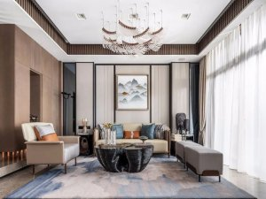轻奢新中式风格家居 富有传统韵味的家居