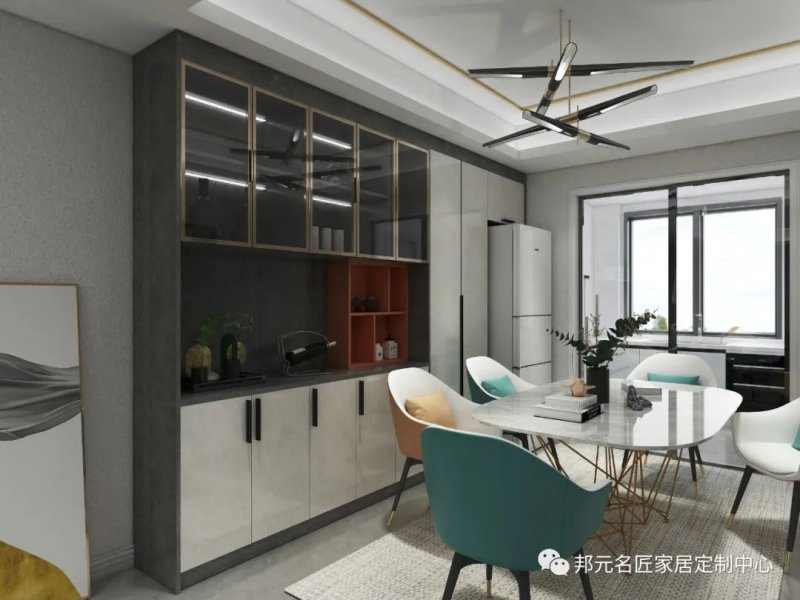 30款餐边柜设计效果图 每款都能让家里颜值倍增_29
