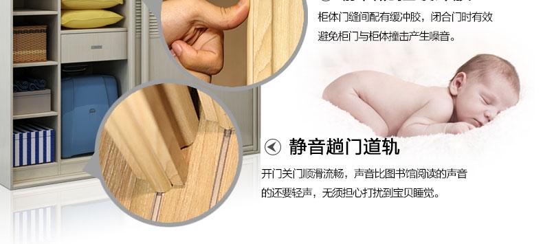 诗尼曼全屋定制 SN-W0029现代简约风格推拉门衣柜_13