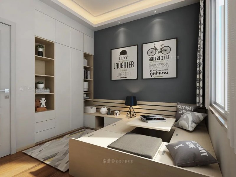 索菲亚全屋定制 入墙式衣柜设计效果图