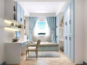 索菲亚全屋定制 地中海风格卧室榻榻米效果图