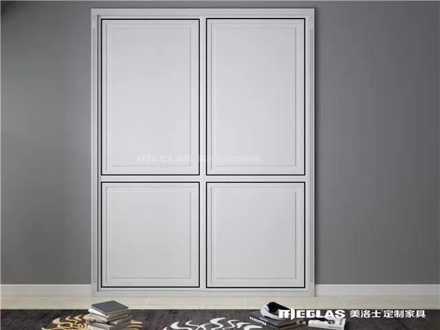 美洛士定制家具 极简系列衣柜移门效果图_6