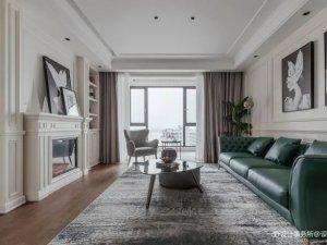 168㎡四口之家美式风格装修案例 美式风格装修效果图