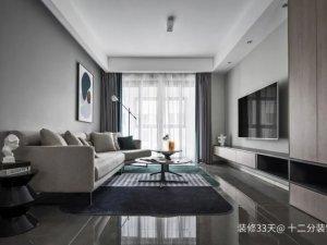 96平三居室装修案例 现代简约风格装修效果图