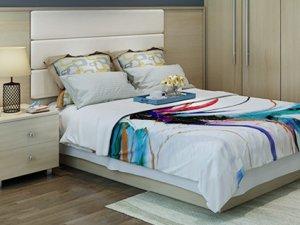 诗尼曼全屋定制图片 现代简约风卧室衣柜床头柜套装