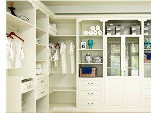 玛格全屋定制  白色欧式开放式衣柜图片