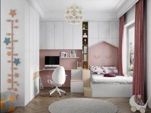 中铝•绿萝美巢  粉红公主儿童房效果图