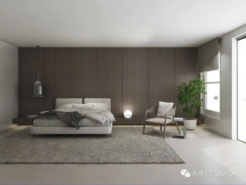 卧室:赫仑橡木