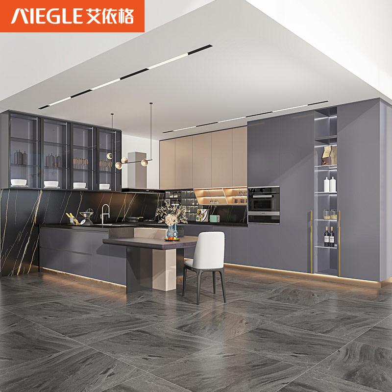 艾依格全屋定制 2021新品极简轻奢太空主义系列厨房