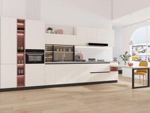 艾依格全屋定制 2021新品现代简约莫兰迪厨房效果图