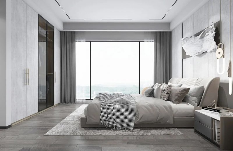 工业风设计案例 从玄关到卧室一酷到底!_18