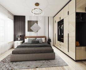 适而居全屋定制 卧室衣柜设计效果图